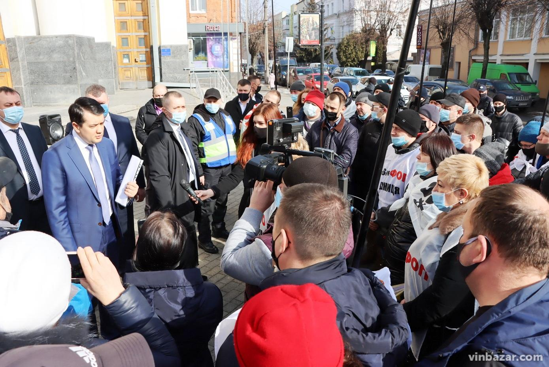 Вінницю відвідав спікер Верховної ради Дмитро Разумков: