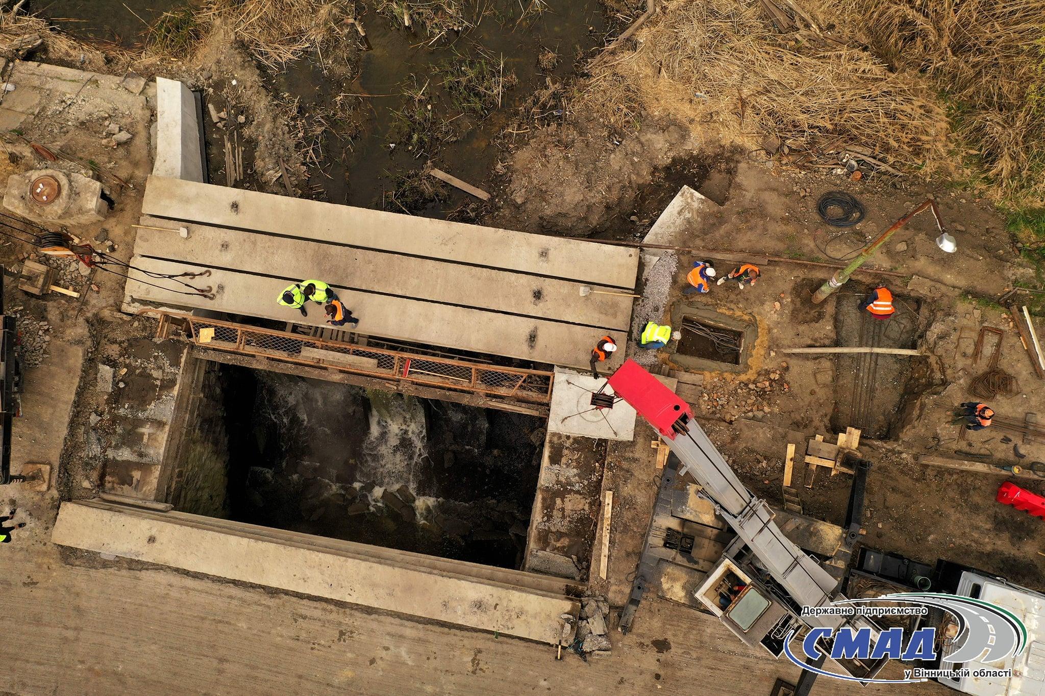 У Немирові демонтують міст, через який проходить міжнародна траса (Фото)