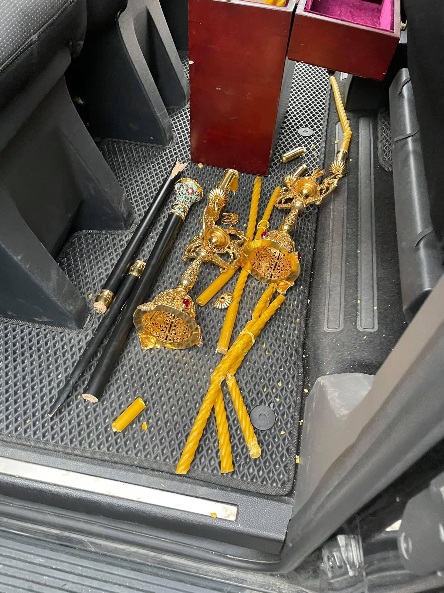 У Вінниці чоловік напав на автомобіль митрополита УПЦ МП Варсонофія (Фото)