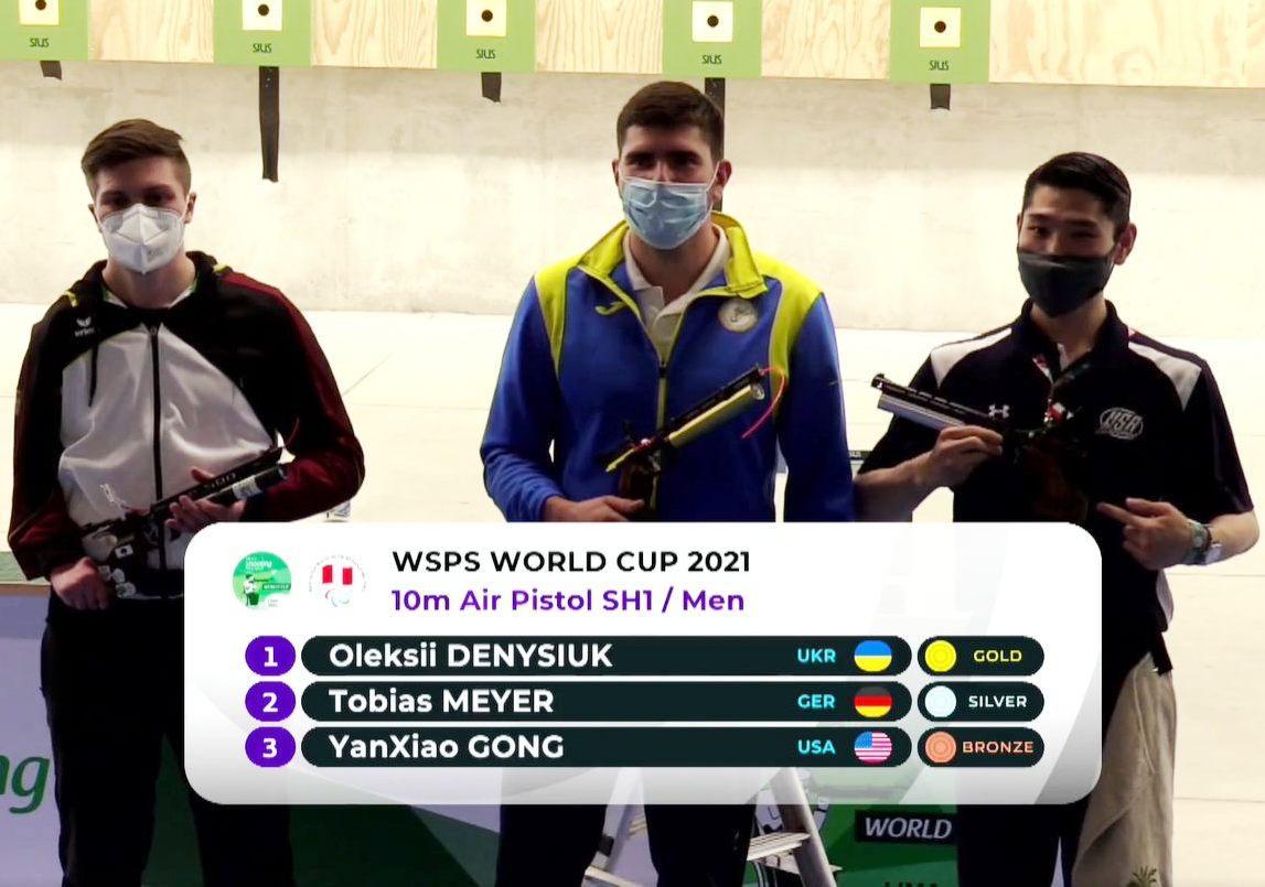 Спортсмен-паралімпієць з Вінниці виборов «золото» на Кубку світу з кульової стрільби (Фото+Відео)