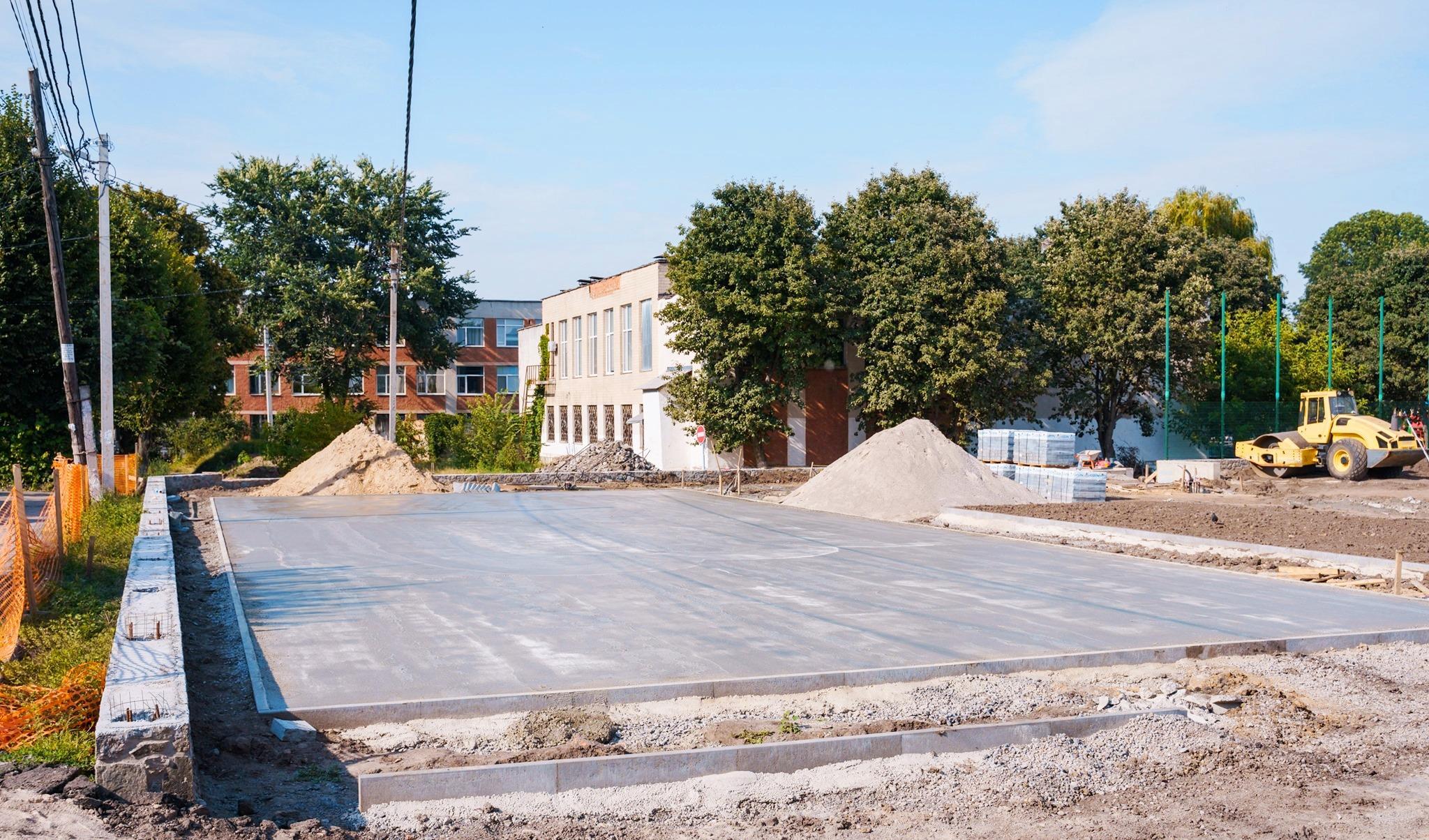 На території 29-ї школи будують спортивне ядро (Фото)