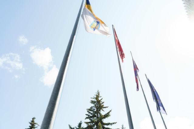 У Вінниці підняли олімпійський прапор, аби підтримати українську збірну (Фото)