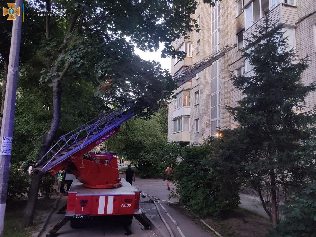 У Вінниці горіли квартири в двох багатоповерхівках (Фото)