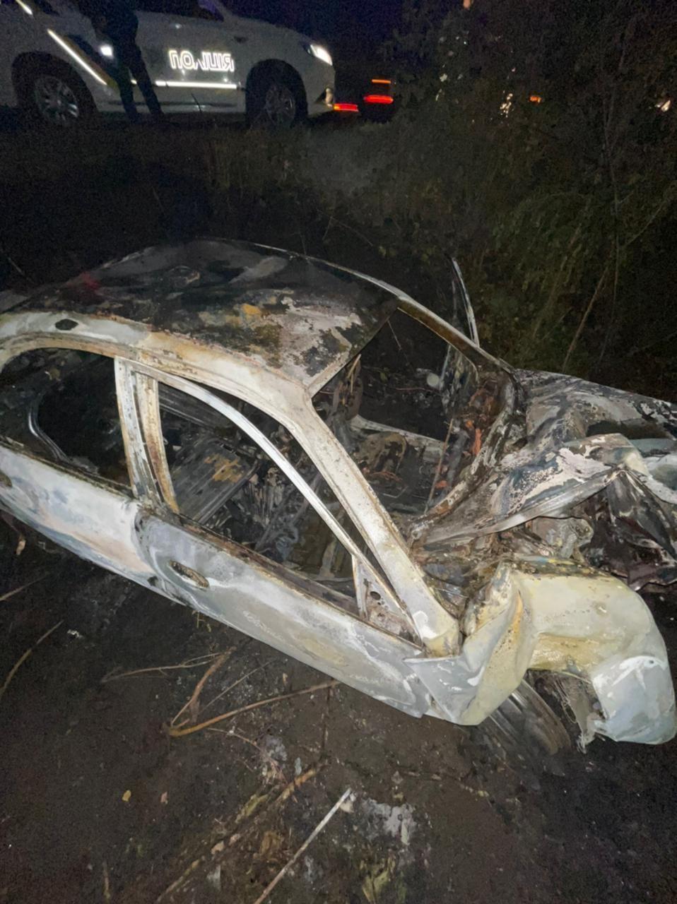 У Гайсинському районі легковик злетів з дороги та загорівся. Загинув водій (Фото)